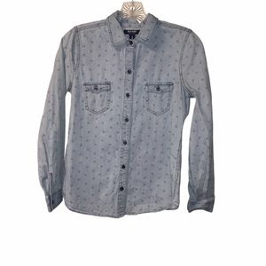 3/$21  Old Navy Long Sleeve Button Down Blouse